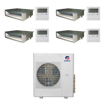 Gree MULTI42BDUCT400 - 42,000 BTU Multi21 Quad-Zone Concealed Duct Mini Split Air Conditioner Heat Pump 208-230V (9-9-9-9)