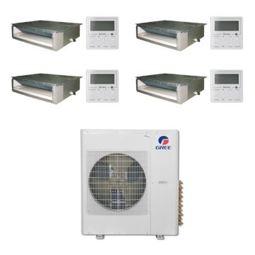 Gree MULTI42BDUCT403 -42,000 BTU Multi21 Quad-Zone Concealed Duct Mini Split Air Conditioner Heat Pump 208-230V (9-9-12-12)