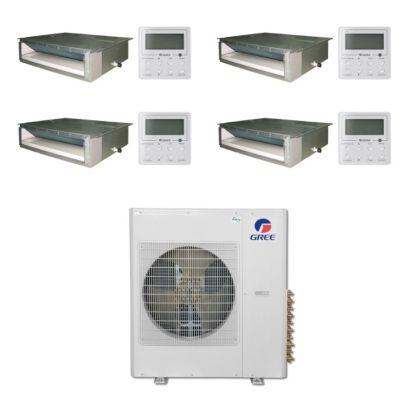 Gree MULTI42BDUCT406 -42,000 BTU Multi21 Quad-Zone Concealed Duct Mini Split Air Conditioner Heat Pump 208-230V(9-12-12-18)