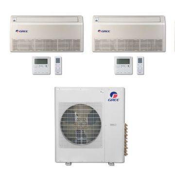Gree MULTI42BFLR200 - 42,000 BTU Multi21 Dual-Zone Floor/Ceiling Mini Split Air Conditioner with Heat Pump 220V (9-9)