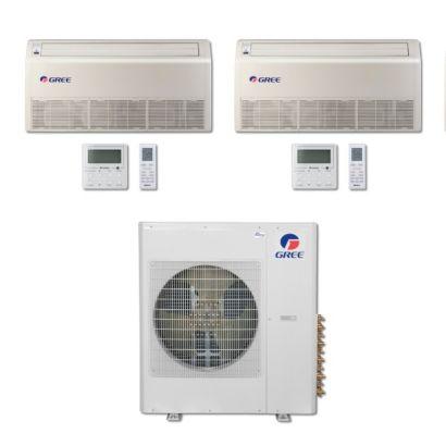 Gree MULTI42BFLR206 - 42,000 BTU Multi21 Dual-Zone Floor/Ceiling Mini Split Air Conditioner Heat Pump 208-230V (12-24)