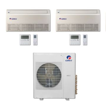 Gree MULTI42BFLR209 - 42,000 BTU Multi21 Dual-Zone Floor/Ceiling Mini Split Air Conditioner with Heat Pump 220V (24-24)