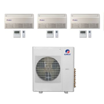 Gree MULTI42BFLR300 - 42,000 BTU Multi21 Tri-Zone Floor/Ceiling Mini Split Air Conditioner with Heat Pump 220V (9-9-9)