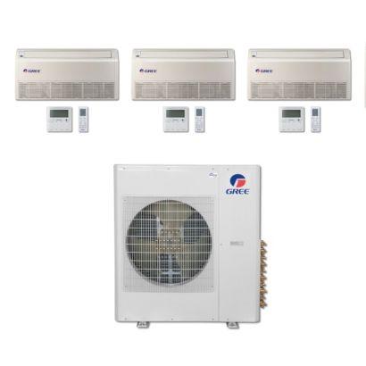 Gree MULTI42BFLR300 - 42,000 BTU Multi21 Tri-Zone Floor/Ceiling Mini Split Air Conditioner Heat Pump 208-230V (9-9-9)