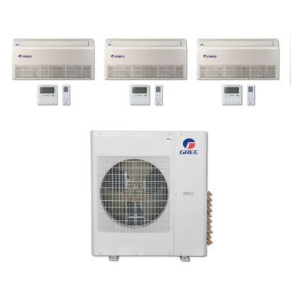 Gree MULTI42BFLR304 - 42,000 BTU Multi21 Tri-Zone Floor/Ceiling Mini Split Air Conditioner Heat Pump 208-230V (9-12-12)