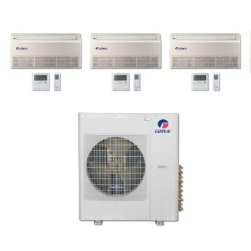 Gree MULTI42BFLR311 - 42,000 BTU Multi21 Tri-Zone Floor/Ceiling Mini Split Air Conditioner with Heat Pump 220V (12-18-18)
