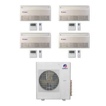 Gree MULTI42BFLR400 - 42,000 BTU Multi21 Quad-Zone Floor/Ceiling Mini Split Air Conditioner Heat Pump 208-230V (9-9-9-9)