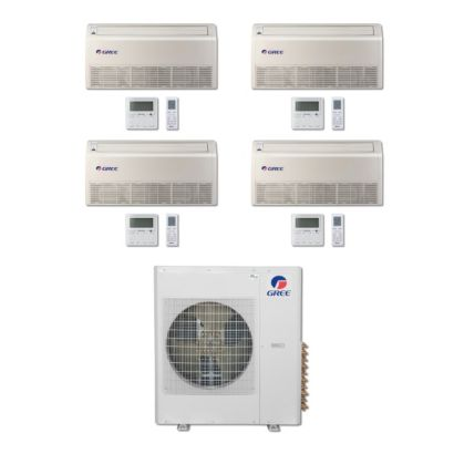 Gree MULTI42BFLR404 - 42,000 BTU Multi21 Quad-Zone Floor/Ceiling Mini Split Air Conditioner Heat Pump 208-230V (9-9-12-18)