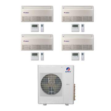 Gree MULTI42BFLR406 - 42,000 BTU Multi21 Quad-Zone Floor/Ceiling Mini Split Air Conditioner with Heat Pump 220V (9-12-12-18)