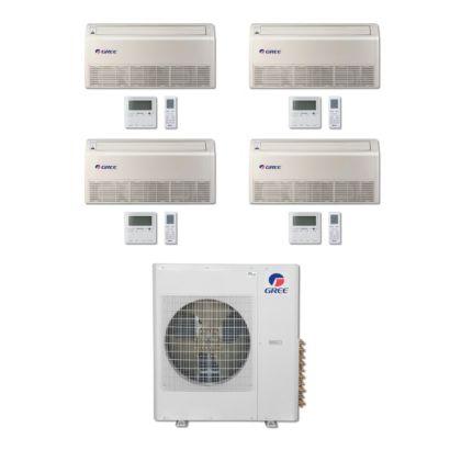 Gree MULTI42BFLR406 - 42,000 BTU Multi21 Quad-Zone Floor/Ceiling Mini Split Air Conditioner Heat Pump 208-230V (9-12-12-18)