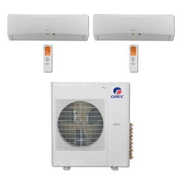 Gree MULTI42BTERRA207 - 42,000 BTU Multi21 Dual-Zone Wall Mounted Mini Split Air Conditioner with Heat Pump 220V (18-18)