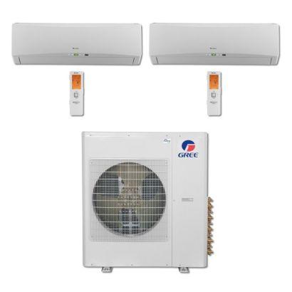 Gree MULTI42BTERRA207 - 42,000 BTU Multi21 Dual-Zone Wall Mount Mini Split Air Conditioner Heat Pump 208-230V (18-18)