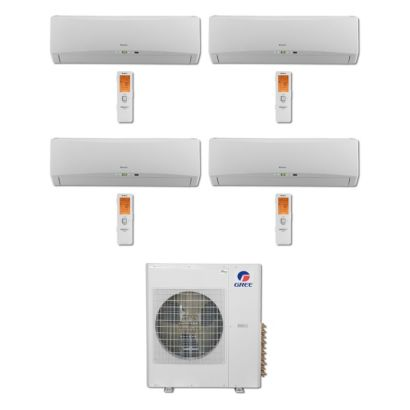 Gree MULTI42BTERRA405 -42,000 BTU Multi21 Quad-Zone Wall Mount Mini Split Air Conditioner Heat Pump 208-230V (9-12-12-12)