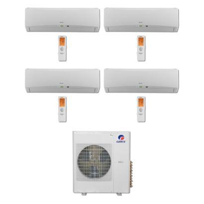 Gree MULTI42BTERRA407 -42,000 BTU Multi21 Quad-Zone Wall MountMini Split Air Conditioner Heat Pump 208-230V (12-12-12-12)