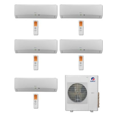 Gree MULTI42BTERRA500 -42,000 BTU Multi21 Penta-Zone Wall Mount Mini Split Air Conditioner Heat Pump 208-230V (9-9-9-9-9)