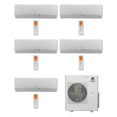 Gree MULTI42BTERRA501-42,000 BTU Multi21 Penta-Zone Wall Mount Mini Split Air Conditioner Heat Pump 208-230V (9-9-9-9-12)