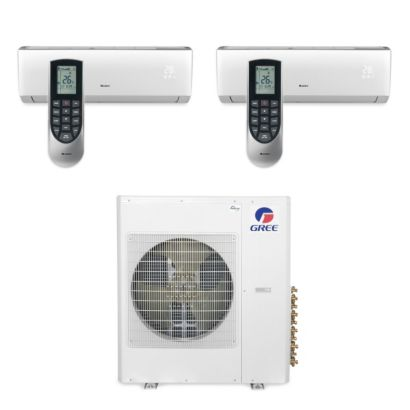 Gree MULTI42BVIR200 - 42,000 BTU Multi21 Dual-Zone Wall Mount Mini Split Air Conditioner Heat Pump 208-230V (9-9)