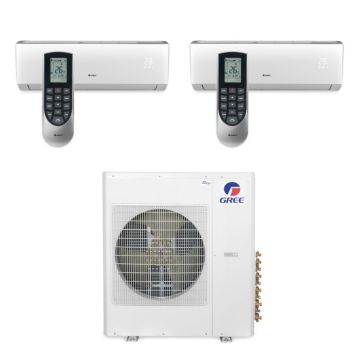 Gree MULTI42BVIR204 - 42,000 BTU Multi21 Dual-Zone Wall Mounted Mini Split Air Conditioner with Heat Pump 220V (12-12)
