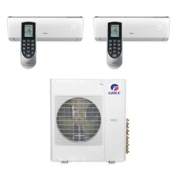 Gree MULTI42BVIR207 - 42,000 BTU Multi21 Dual-Zone Wall Mounted Mini Split Air Conditioner with Heat Pump 220V (18-18)