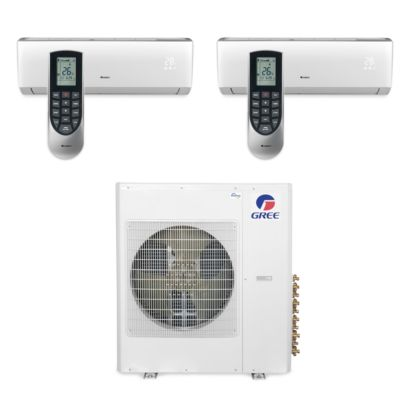 Gree MULTI42BVIR207 - 42,000 BTU Multi21 Dual-Zone Wall Mount Mini Split Air Conditioner Heat Pump 208-230V (18-18)