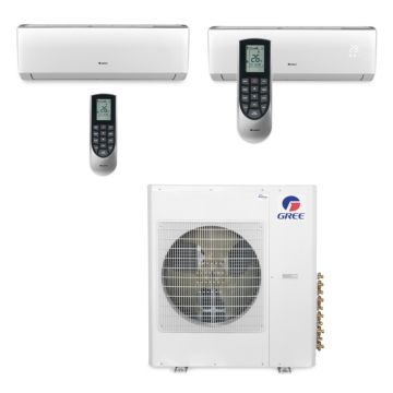 Gree MULTI42BVIR208 - 42,000 BTU Multi21 Dual-Zone Wall Mount Mini Split Air Conditioner Heat Pump 208-230V (18-24)