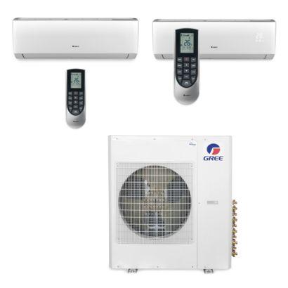 Gree MULTI42BVIR208 - 42,000 BTU Multi21 Dual-Zone Wall Mount Mini Split Air Conditioner Heat Pump 208-230V (18-24)