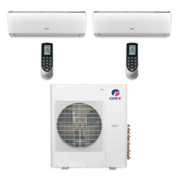 Gree MULTI42BVIR209 - 42,000 BTU Multi21 Dual-Zone Wall Mount Mini Split Air Conditioner Heat Pump 208-230V (24-24)
