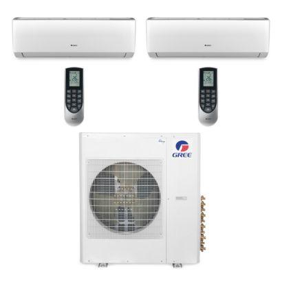 Gree MULTI42BVIR209 - 42,000 BTU Multi21 Dual-Zone Wall Mount Mini Split Air Conditioner Heat Pump 208-230V (24-24)
