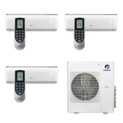 Gree MULTI42BVIR301 - 42,000 BTU Multi21 Tri-Zone Wall Mount Mini Split Air Conditioner Heat Pump 208-230V (9-9-12)