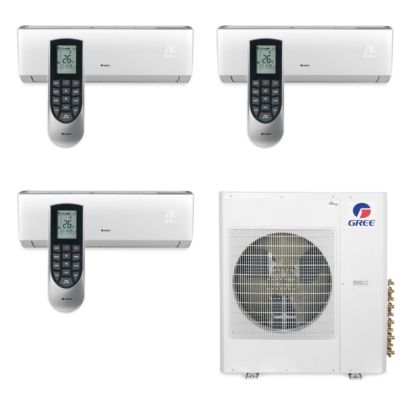 Gree MULTI42BVIR305 - 42,000 BTU Multi21 Tri-Zone Wall Mount Mini Split Air Conditioner Heat Pump 208-230V (9-12-18)