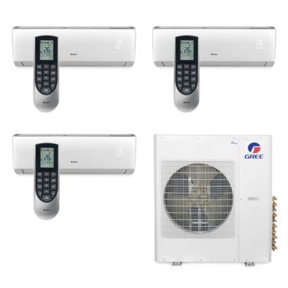 Gree MULTI42BVIR308 - 42,000 BTU Multi21 Tri-Zone Wall Mount Mini Split Air Conditioner Heat Pump 208-230V (12-12-12)