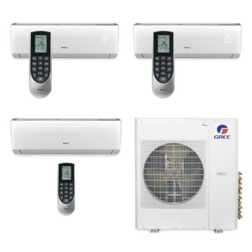 Gree MULTI42BVIR310 - 42,000 BTU Multi21 Tri-Zone Wall Mounted Mini Split Air Conditioner with Heat Pump 220V (12-12-24)