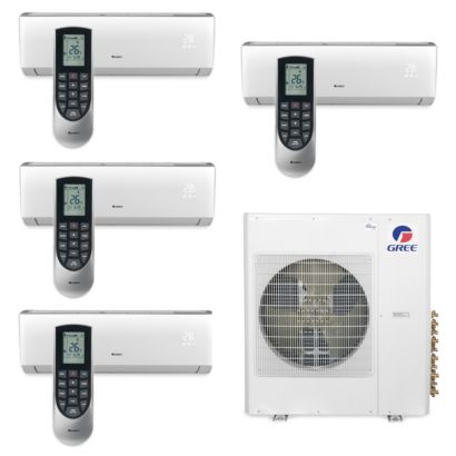 Gree MULTI42BVIR400 - 42,000 BTU Multi21 Quad-Zone Wall Mount Mini Split Air Conditioner Heat Pump 208-230V (9-9-9-9)