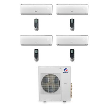 Gree MULTI42BVIR402 - 42,000 BTU Multi21 Quad-Zone Wall Mounted Mini Split Air Conditioner with Heat Pump 220V (9-9-9-18)