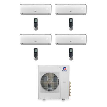 Gree MULTI42BVIR404 - 42,000 BTU Multi21 Quad-Zone Wall Mounted Mini Split Air Conditioner with Heat Pump 220V (9-9-12-18-)
