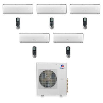 Gree MULTI42BVIR500 -  42,000 BTU Multi21 Penta-Zone Wall Mounted Mini Split Air Conditioner with Heat Pump 220V (9-9-9-9-9)