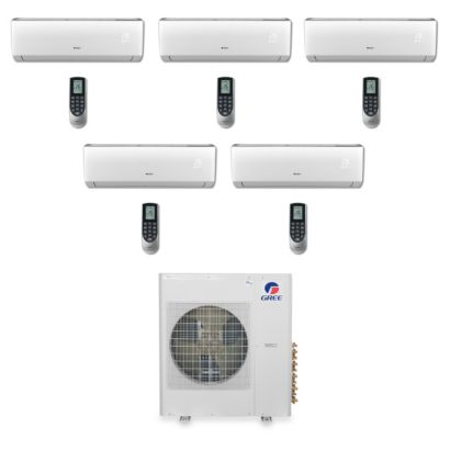 Gree MULTI42BVIR501 - 42,000 BTU Multi21 Penta-Zone Wall Mount Mini Split Air Conditioner Heat Pump 208-230V (9-9-9-9-12)