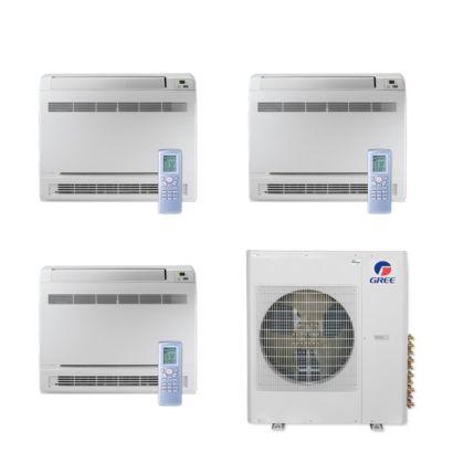 Gree MULTI42CCONS301 - 42,000 BTU Multi21+ Tri-Zone Floor Console Mini Split Air Conditioner Heat Pump 208-230V (9-9-12)