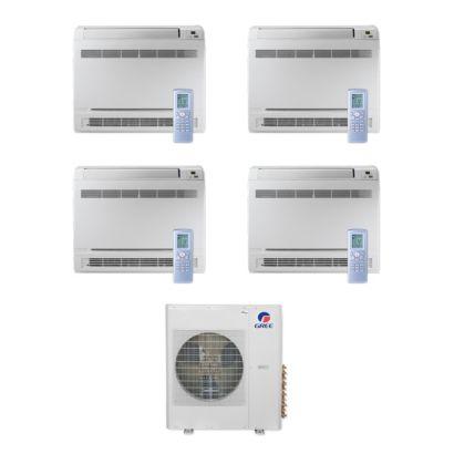 Gree MULTI42CCONS401 - 42,000 BTU Multi21+ Quad-Zone Floor Console Mini Split Air Conditioner Heat Pump 208-230V (9-9-9-12)