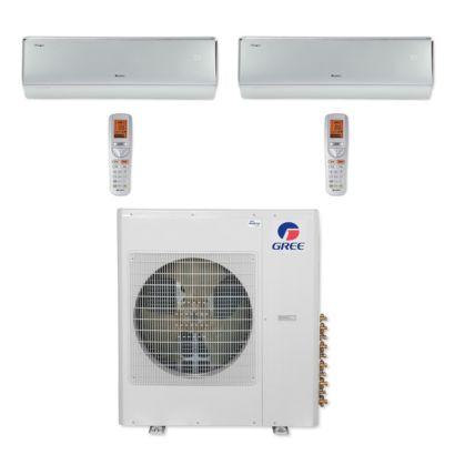 Gree MULTI42CCROWN202 - 42,000 BTU Multi21+ Dual-Zone Wall Mount Mini Split Air Conditioner Heat Pump 208-230V (9-18)