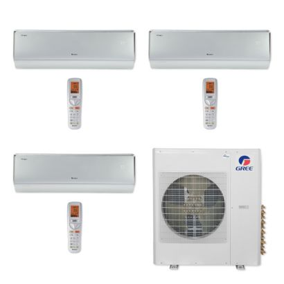 Gree MULTI42CCROWN309 - 42,000 BTU Multi21+ Tri-Zone Wall Mount Mini Split Air Conditioner Heat Pump 208-230V (12-12-18)