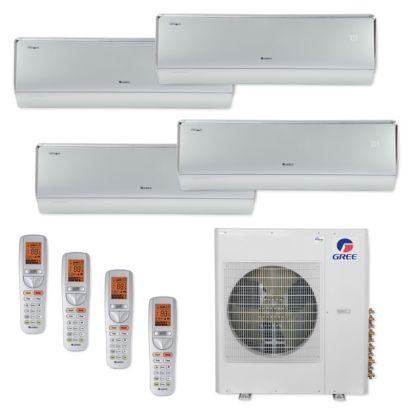 Gree MULTI42CCROWN406 -42,000 BTU Multi21+ Quad-Zone Wall Mount Mini Split Air Conditioner Heat Pump 208-230V (9-12-12-18)