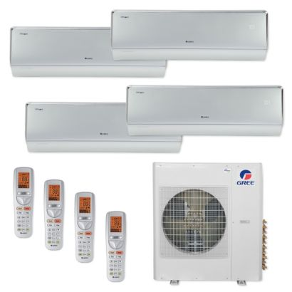Gree MULTI42CCROWN407-42,000 BTU Multi21+ Quad-Zone Wall Mount Mini Split Air Conditioner Heat Pump 208-230V (12-12-12-12)