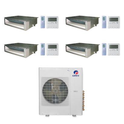 Gree MULTI42CDUCT400 - 42,000 BTU Multi21+ Quad-Zone Concealed Duct Mini Split Air Conditioner Heat Pump 208-230V (9-9-9-9)