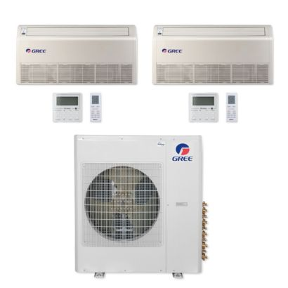 Gree MULTI42CFLR205 - 42,000 BTU Multi21+ Dual-Zone Floor/Ceiling Mini Split Air Conditioner Heat Pump 208-230V (12-18)