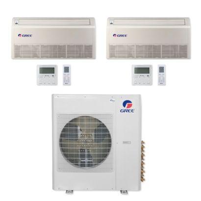 Gree MULTI42CFLR208 - 42,000 BTU Multi21+ Dual-Zone Floor/Ceiling Mini Split Air Conditioner Heat Pump 208-230V (18-24)