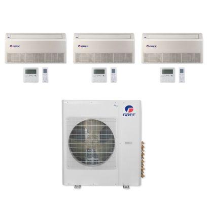 Gree MULTI42CFLR310 - 42,000 BTU Multi21+ Tri-Zone Floor/Ceiling Mini Split Air Conditioner Heat Pump 208-230V (12-12-24)