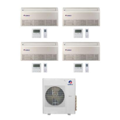 Gree MULTI42CFLR407 -42,000 BTU Multi21+ Quad-Zone Floor/Ceiling Mini Split Air Conditioner Heat Pump 208-230V (12-12-12-12)