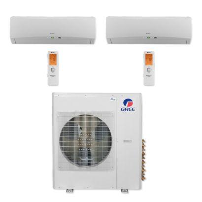 Gree MULTI42CTERRA204 - 42,000 BTU Multi21+ Dual-Zone Wall Mount Mini Split Air Conditioner Heat Pump 208-230V (12-12)