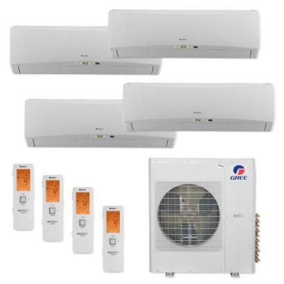 Gree MULTI42CTERRA407 -42,000 BTU Multi21+ Quad-Zone Wall MountMini Split Air Conditioner Heat Pump 208-230V (12-12-12-12)